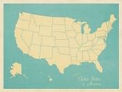 USA Map (blue)