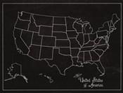USA Map (chalk)