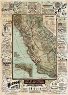 Map of California Roads for Cyclers, 1896