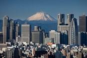 Tokyo, Shinjuku, City Skyline, Mount Fuji, Japan