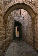 Arch of Jerusalem Stone and Narrow Lane, Israel