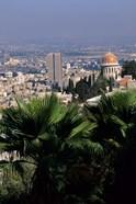 Haifa Cityscape from Bahai Dome, Israel