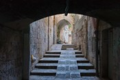 Ancient street, old town, Jerusalem, Israel