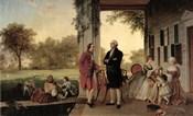 Washington and Lafayette at Mount Vernon, 1784, 1859