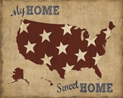 My Home Sweet Home USA Map