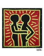 Untitled, 1982 (couple in black, red, and green)