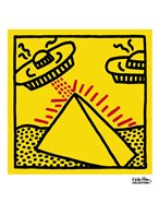 Untitled, 1984 (pyramid with UFOs)