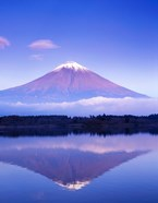 Mt Fuji with Lenticular Cloud, Motosu Lake, Japan