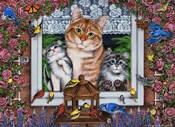Window Kitties Horizontal