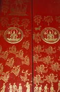 Decorated Door at Wat Xeomg Tong, Laos