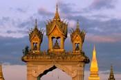 Asia, Laos, Vientiane, That Luang Temple
