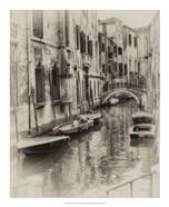 Six Boats Sepia