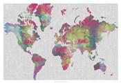 Impasto Map of the World