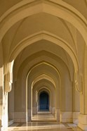 Oman, Muscat, Walled City of Muscat. Arabian Arches by the Sultan's Palace