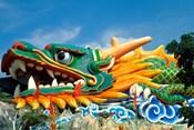 Famous Dragon at Haw Par Villa in Singapore Asia