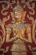 Gold Leafed Deatil at Wat Doi Suthep, Chiang Mai, Thailand