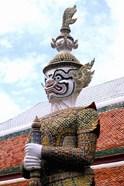 Close-up of Statue at Emerald Palace in Grand Palace, Bangkok, Thailand