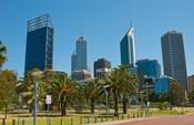 Skyline of new buildings, Perth, Western Australia