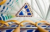 Abstract of pillars at Burj Al Arab, Dubai, United Arab Emirates