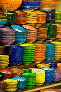 Bowls and Plates on Display, For Sale at Vendors Booth, Spice Market, Istanbul, Turkey