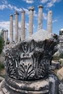 Columns and Relief Sculpture, Aphrodisias, Turkey
