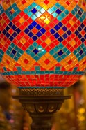 Stained Glass Lamp Vendor in Spice Market, Istanbul, Turkey