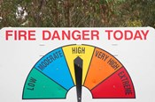 Fire Danger Warning Sign, Queensland, Australia
