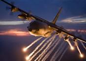 C-130 Hercules Releases Flares