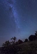 Milky Way Rises Over Kenton, Oklahoma