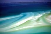 Australia, Whitsunday Island, Hill Inlet, pattern