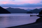 Dusk on Picton Harbour, Marlborough Sounds, South Island, New Zealand