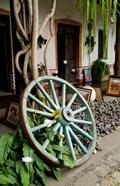 Wagon Wheel, La Posada De Don Rodrigo Hotel, Antigua, Guatemala