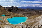 New Zealand, Tongariro NP, Mountain, Emerald Lakes