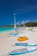 Antigua, Dickenson Bay, beach, sailboats
