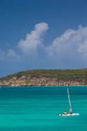 Antigua, Dickenson Bay, Sailboat