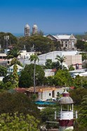 Antigua, St Johns, elevated city view