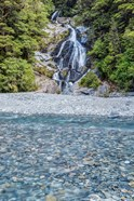 New Zealand, South Island, Mt Aspiring National Park, Fan Tail Falls