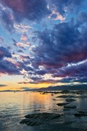 New Zealand, South Island, Kaikoura, South Bay Sunset