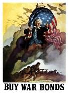 Uncle Sam Urging Troops into Battle