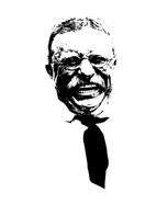 Vector Portrait of Theodore Roosevelt smiling