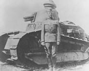 General George Smith Patton and a French Renault Tank