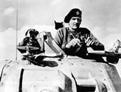 Field Marshal Bernard Law Montgomery in his Tank