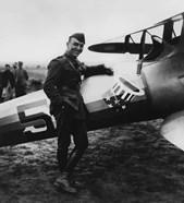 Eddie Rickenbacker with his Fighter Plane