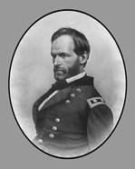 Civil War General William Tecumseh Sherman (side profile)