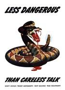 Less Dangerous (War Propoganda Snake Poster)