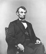 Civil War era painting of President Abraham Lincoln
