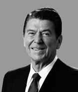 Vector Portrait of Ronald Reagan