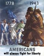 American Infantryman Marching War Poster