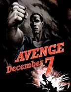 World War II Poster Declaring Avenge December 7th