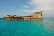 Cement shipwreck, Barnett Harbour, Bahamas